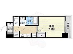 S-RESIDENCE江坂Eminence 14階1Kの間取り