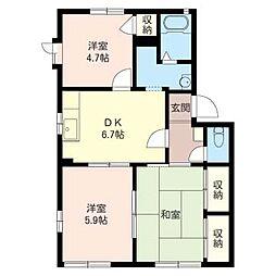 グリーン ハウス B[1階]の間取り