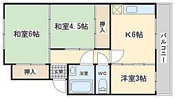 富士見ビル[504号室]の間取り