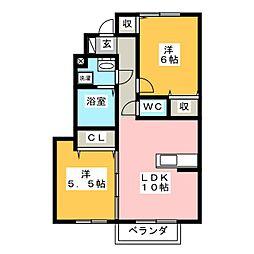 サンクブランシュA[1階]の間取り