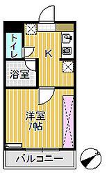 プリンスマンション[106号室]の間取り