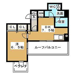 プレミアステージ内神田 7階1LDKの間取り