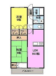 群馬県高崎市高関町の賃貸マンションの間取り