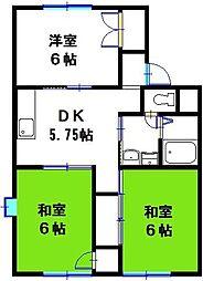 ラメール高砂 B棟[2階]の間取り