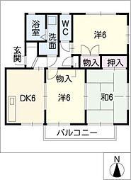 カラントサンク[1階]の間取り