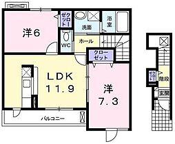 プレシャスコートK[2階]の間取り