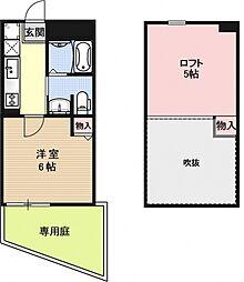 ロフティ西京極郡町[102号室号室]の間取り