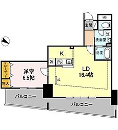 ロイヤルKJ[10階]の間取り