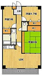 ル・シエル宝塚[2階]の間取り
