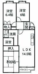 サンモール湘南[5階]の間取り