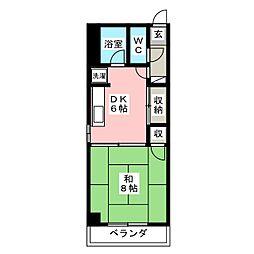 フラットハウス及川[7階]の間取り