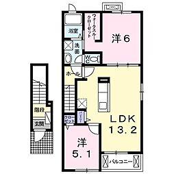 ラハナI[2階]の間取り