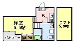 STAGE蘇我(ステージ)[203号室]の間取り