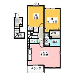 アンジュII[2階]の間取り
