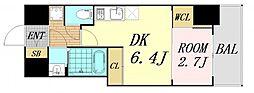 セレニテ桜川駅前プリエ 12階1DKの間取り