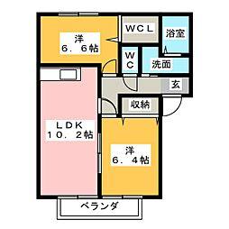 ジェミニパレス[2階]の間取り