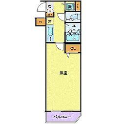 スカイコート池袋西弐番館 4階1Kの間取り