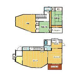 [一戸建] 神奈川県茅ヶ崎市中海岸2丁目 の賃貸【/】の間取り