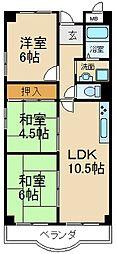 大阪府交野市星田7丁目の賃貸マンションの間取り