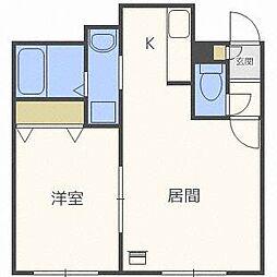 KAZU栄通[1階]の間取り