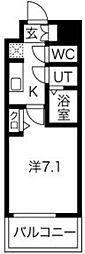 プレサンス京町堀 9階1Kの間取り