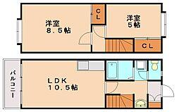 メモリー五郎丸[1階]の間取り