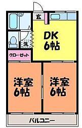 愛媛県松山市南江戸5丁目の賃貸アパートの間取り