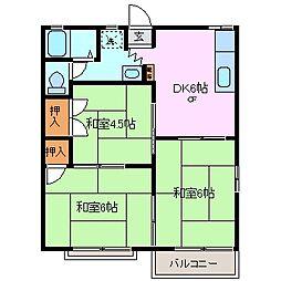 タウニーライフステージ[2階]の間取り