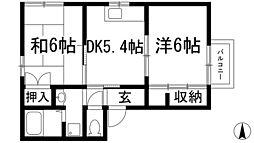 パインコート[2階]の間取り