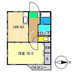 シグナルハウス[4階]の間取り
