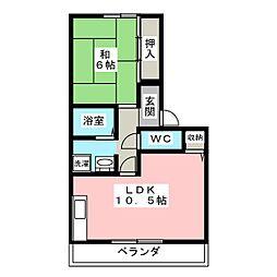 愛知県春日井市岩野町1丁目の賃貸アパートの間取り