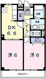 兵庫県姫路市梅ケ枝町の賃貸アパートの間取り