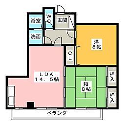 タウン唐山F[2階]の間取り