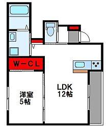(仮称) 原田1丁目新築アパート 1階1LDKの間取り