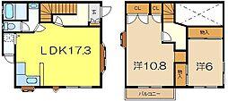 コーポ大岡[1階]の間取り