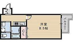 FuMoSe西田辺[303号室]の間取り