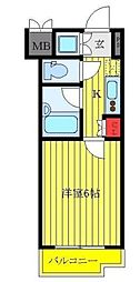 東京都豊島区上池袋3丁目の賃貸マンションの間取り