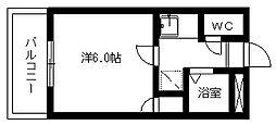 ブルーメ浅田[104号室]の間取り