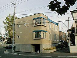 北海道札幌市豊平区西岡二条8丁目の賃貸アパートの外観