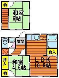 [タウンハウス] 岡山県岡山市中区下 の賃貸【/】の間取り