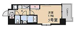 ラグゼ海老江II 8階1Kの間取り