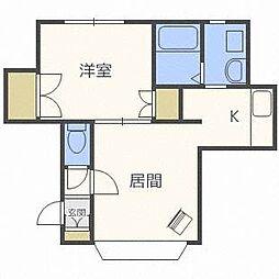 北海道札幌市西区八軒十条東4丁目の賃貸アパートの間取り