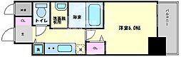 LiveCasa本町(ライブカーサ本町) 15階1Kの間取り