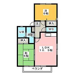 サンパティー森宮[1階]の間取り