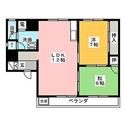 山二ビル[2階]の間取り