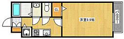 阪急神戸本線 王子公園駅 徒歩15分の賃貸アパート 2階1Kの間取り