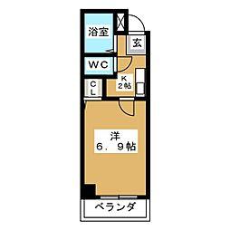 愛知県名古屋市千種区池下2丁目の賃貸マンションの間取り