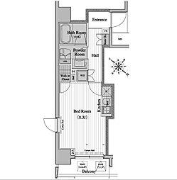 レジディア月島2[6階]の間取り