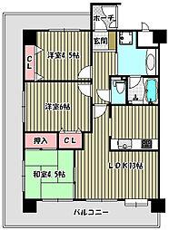 フェニックス堺東[13階]の間取り