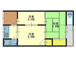 玉串西 文化住宅[6号室号室]の間取り